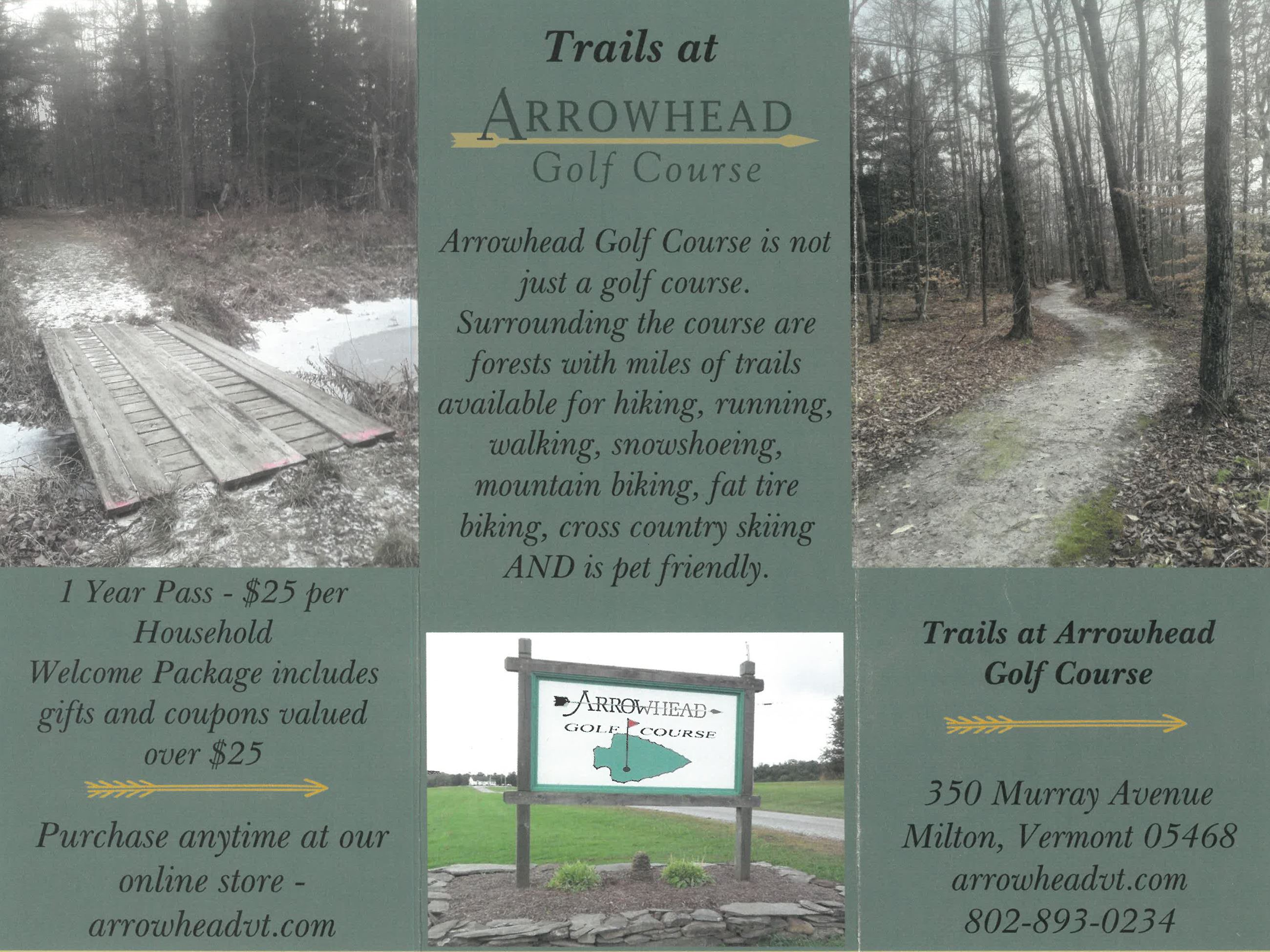Trails at Arrowhead Golf Course Brochure and Map